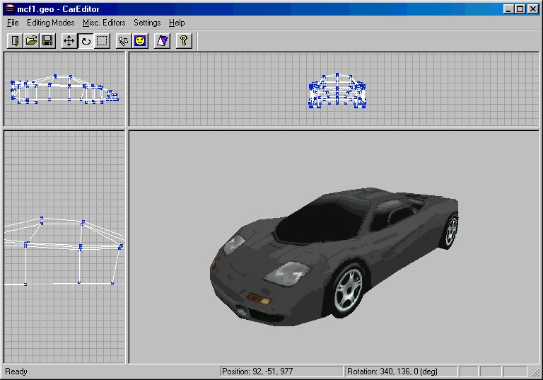 Need for speed 2 careditor 3d model editor